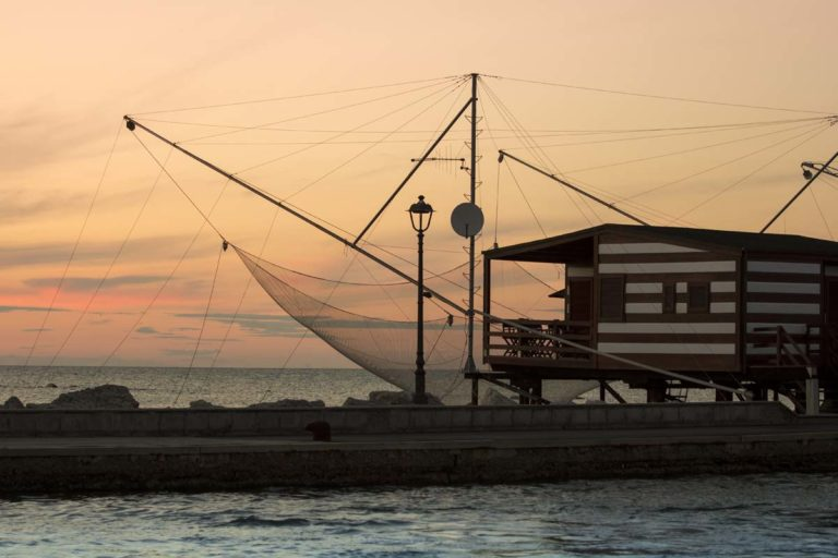 Cesenatico Adriatic Sea coastal town, fisherman house